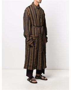 Полосатый халат с поясом Cmmn swdn