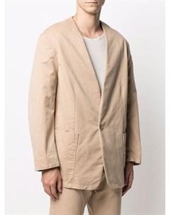 Однобортный пиджак без воротника Fear of god
