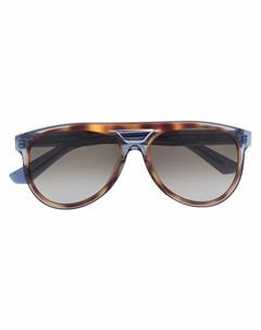 Солнцезащитные очки авиаторы черепаховой расцветки Salvatore ferragamo eyewear