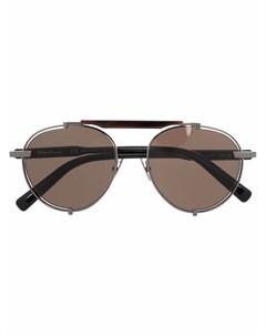 Солнцезащитные очки авиаторы с затемненными линзами Salvatore ferragamo eyewear