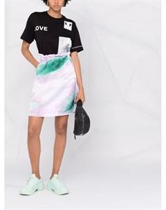 Юбка с акварельным принтом Adidas