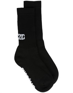 Носки вязки интарсия с логотипом 032c