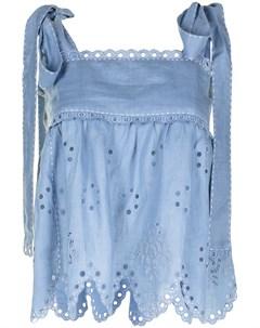 Блузка с английской вышивкой и фестонами Vita kin