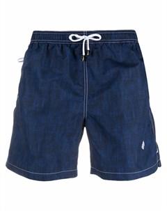 Плавки шорты с вышитым логотипом Borrelli