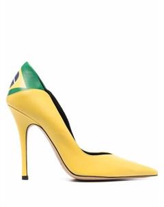 Туфли Brasil Flag с заостренным носком Aleksander siradekian