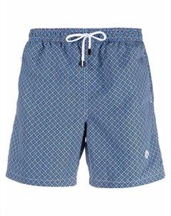 Плавки шорты с геометричным принтом Borrelli