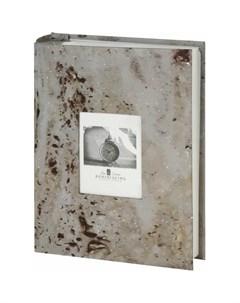 Фотоальбом Голубой мрамор на 200 фото 10х15 см Brauberg