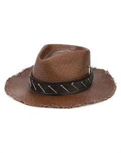 Декорированная соломенная шляпа Nick fouquet