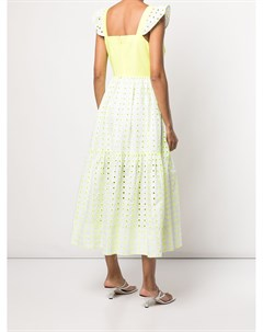 Ярусное платье с вышивкой Tanya taylor
