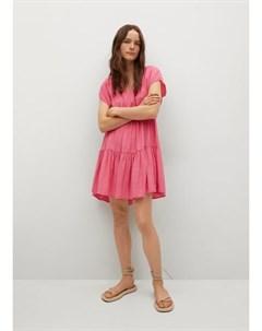 Платье со сборками Siren Mango