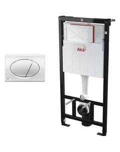 Инсталляция для унитаза AM101 1120 с клавишей хром M071 AM101 1120 3 1RS M71 001 Alcaplast