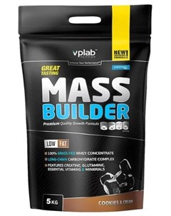 Гейнер Mass Builder печенье крем 5000 г VPLAB Vplab nutrition