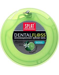 Зубная нить объемная бергамот и лайм 30 м Splat professional