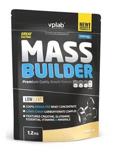 Гейнер Mass Builder вкус Ваниль 1 2 кг VPLab Vplab nutrition