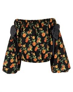 Блузка с открытыми плечами и цветочным принтом Caroline constas