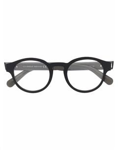 Очки в круглой оправе с логотипом Moncler eyewear