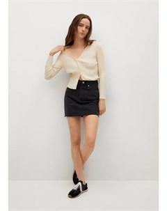 Джинсовая мини юбка с бахромой по низу Rachel Mango