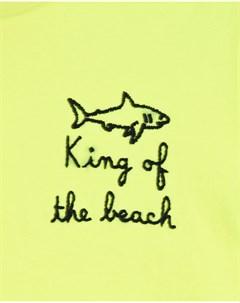 Футболка с принтом King of the beach детская Saint barth