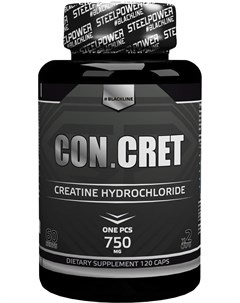 Креатин CON CRET 120 капсул натуральный вкус Steelpower
