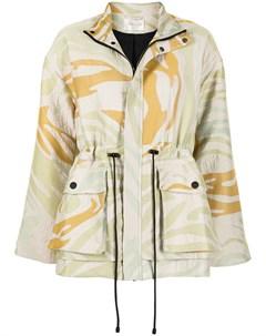 Куртка с кулиской и зебровым принтом Stine goya