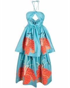 Ярусное платье макси Lilies Yuliya magdych