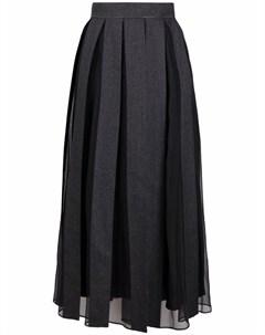 Плиссированная юбка Brunello cucinelli