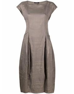 Платье с пышной юбкой и графичным принтом Rundholz