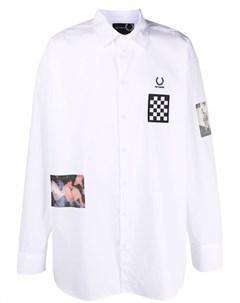 Рубашка поло с нашивками и логотипом Raf simons x fred perry