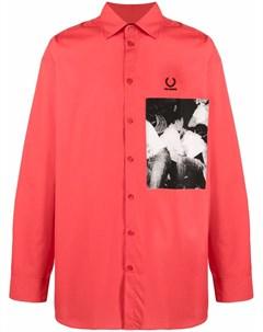 Рубашка с фотопринтом Raf simons x fred perry