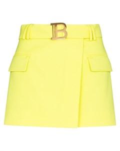 Мини юбка с пряжкой Balmain