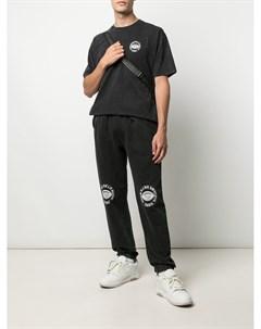 Спортивные шорты с графичным принтом 032c