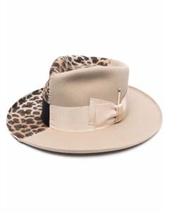 Шляпа федора с принтом Nick fouquet