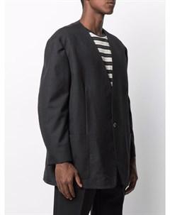 Однобортный пиджак с V образным вырезом Fear of god