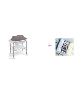 Пеленальный столик bio с ванночкой 246 и Пеленка Mjolk Панды Жёлтый Звёзды 80х80 см Cam