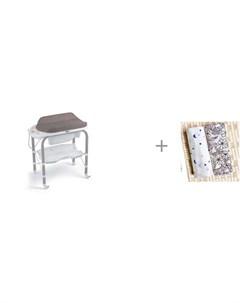 Пеленальный столик bio с ванночкой 246 и Пеленка Mjolk Spring Blossoms Ночное небо 75х75 см Cam