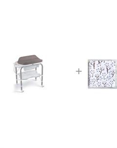 Пеленальный столик bio с ванночкой 246 и муслиновая пеленка Mjolk Хлопок 110x110 см Cam