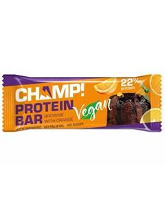 Батончик протеиновый Брауни с апельсином 45 г Champ Леовит