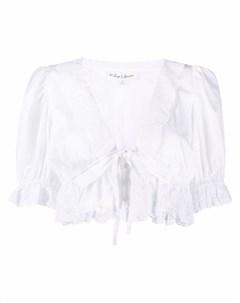 Укороченная блузка с оборками For love and lemons