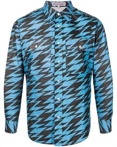 Рубашка с узором зигзаг Walter van beirendonck
