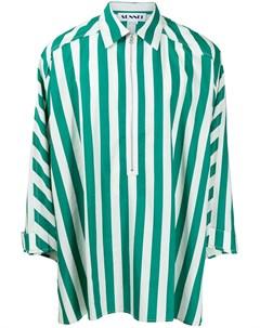 Полосатая рубашка с воротником на молнии Sunnei