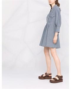 Полосатое платье рубашка Zeus+dione