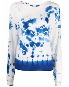 Кашемировый пуловер с принтом тай дай Suzusan