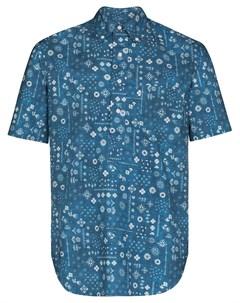 Рубашка с короткими рукавами и принтом Gitman vintage