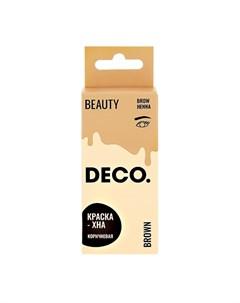 Краска хна для бровей в креме с активатором тон коричневый 15 г 15 г Deco