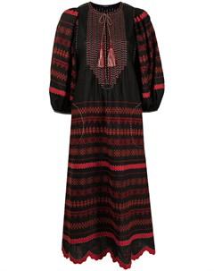 Платье трапеция с вышивкой и круглым вырезом Vita kin