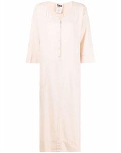 Поплиновое платье рубашка макси Kristensen du nord