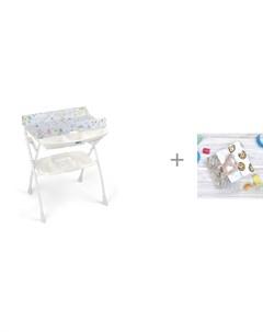 Пеленальный столик Volare с ванночкой 243 и Пеленка Mjolk Печенье Palm Tree Звёзды 120х85 см Cam