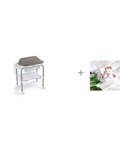 Пеленальный столик bio с ванночкой 246 и Пеленка Mjolk Лисички Palm Tree Звёзды 120х85 см Cam