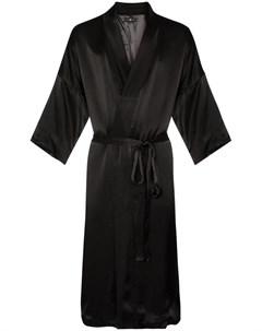 edward crutchley атласный халат с вышивкой Edward crutchley