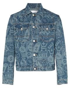 Cmmn swdn джинсовая куртка brandon с принтом 50 синий Cmmn swdn